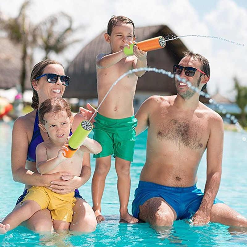 Пенопластовые Водяные Пистолеты Пистолет шутер супер пушки игрушки для детей Детские пляжные банные комнаты Детские Банные игрушки