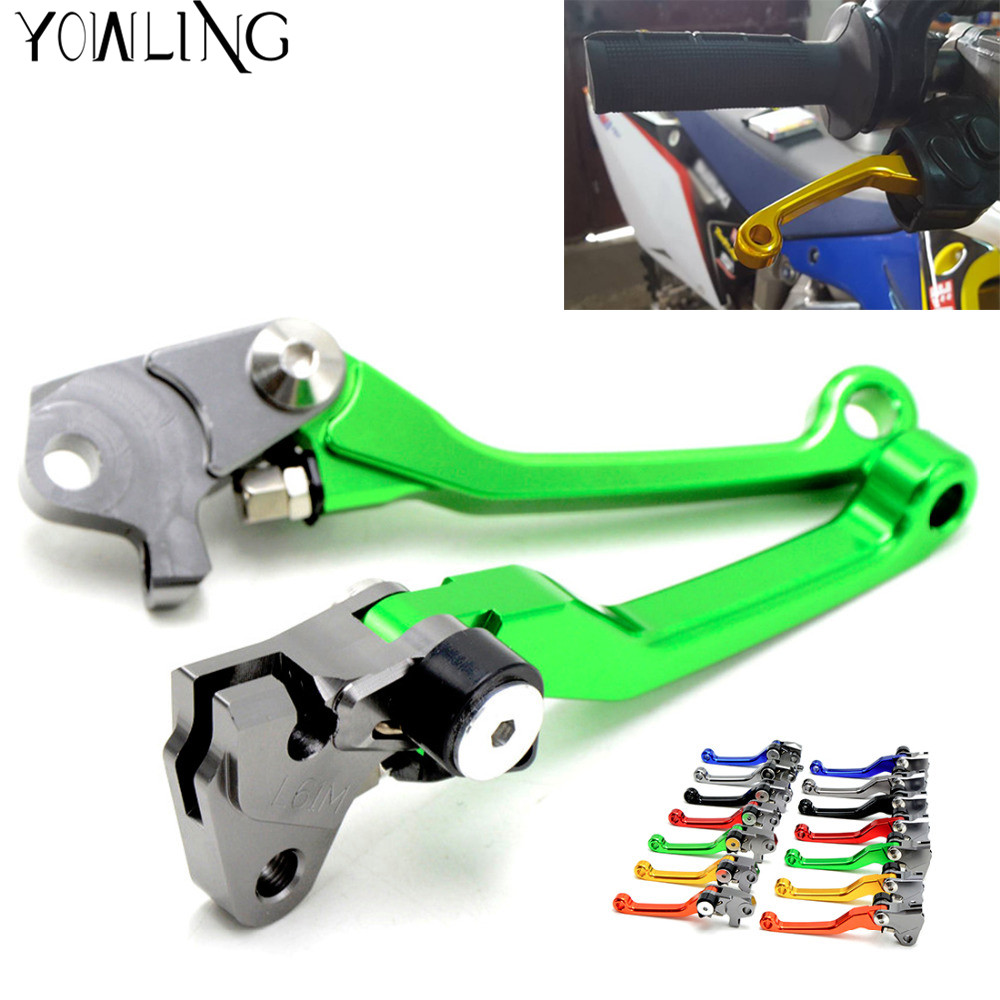Motocross CNC Pit Dirt Bike Brake Clutch Lever Handle For Kawasaki KX450F KX 450F KX 450 F 2006 2007 2008 2009 2010 2011 2012 cnc 7 8 for yamaha yz250f 2009 2014 motocross off road brake master cylinder clutch levers dirt pit bike 2010 2011 2012 2013
