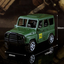Game PUBG Off-road Jeep Cosplay Costumes Accessories Accessories Playerunknown Battlefields Alloy Jeep Car Model Toy Collectible