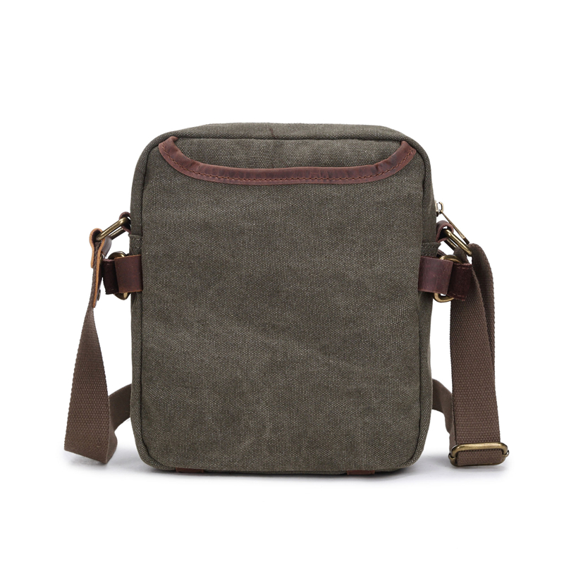 aaa25e165a4e Baigio Men Leather Canvas Small Briefcase Bag Stylish Men Crossbody  Designer Shoulder Bags Man Clutch Messenger Bag Male -in Crossbody Bags  from Luggage ...