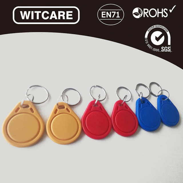 3 Colors* 6pcs/lot 13.56MHz Ntag 203/213 RFID IC Key Tags Keyfobs Token NFC TAG Keychain For Arduino
