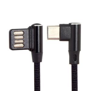 Image 1 - USB Micro y tipo c en ángulo izquierdo derecho 90 grados Cable de datos USB 2,0 con funda para Tablet y teléfono 15cm