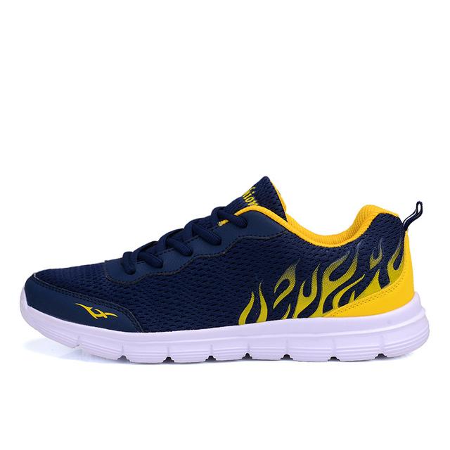 Men Mesh Shoes Men Footwear Fashion Breathable Lace up Flats Casual Shoes