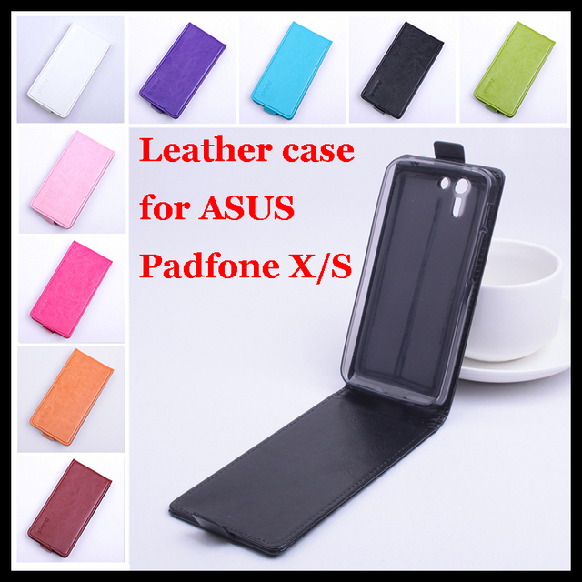 9 colors High Quality luxury Leather Case for ASUS Padfone S / X phone Flip Cover case with PadfoneS PadfoneX cellphone Cases