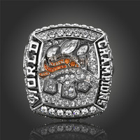 Hot Selling 2015 2016 Denver Broncos Super Bowl Ring Vintage Men Jewelry Sports Replica Ring Championship