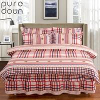 Puredown Bedding Set Bed Skirt Sheet King Queen Size Luxury Jacquard wedding Bedding Set Duvet cover BedSpread set Pillowcase