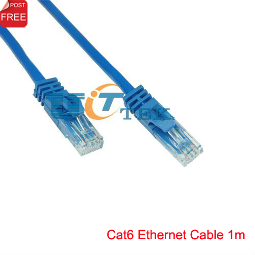 1m 3Ft Cat 6 CAT6  UTP Ethernet Network Cable RJ45 Patch Cord Blue Singapore Post Free Shipping
