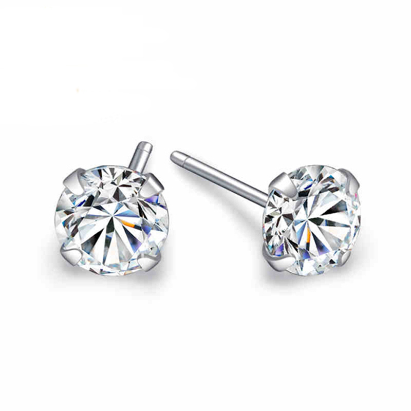 GH Clarity: VVS Round Brilliant Cut Moissanite Diamond Studded Earrings Color: 0.30 to 4.00 Carat 14K rose-gold