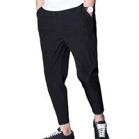 2017 Men S Pants Black Mens Pants Casual Loose Comfortable Joggers Hip Hop Streetwear Drawstring Sweatpants