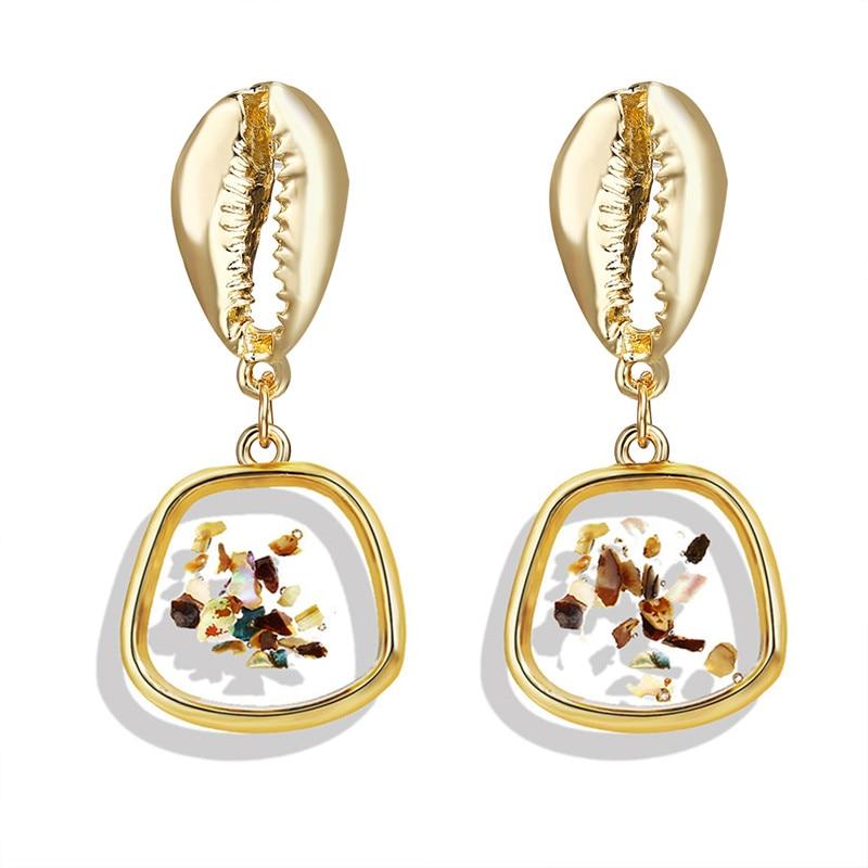 Vintage Earrings 2019 Geometric Shell Earrings For Women Girls BOHO Resin Drop Earrings Brincos Fashion Tortoise Jewelry 17