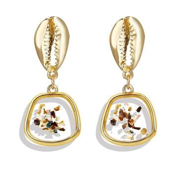 Geometric Shell Earrings For Women Earrings Jewelry Women Jewelry Metal Color: CS190705103