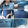 Jeans Shirt women 2019 Long Sleeve Slim Casual Vintage Elastic Ladies Denim Shirts Tops Blusas Feminina Woman Blouses and Tops 6