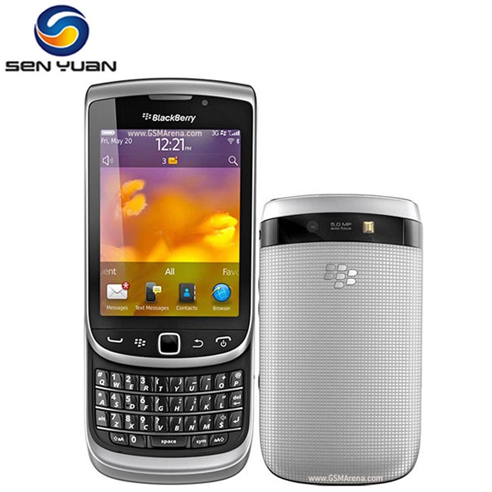 """Цена за Оригинальный Разблокирована Blackberry 9810 мобильный телефон 3 Г WI FI GPS QWERTY Клавиатура 3.2 """"Сенсорный Экран 8 ГБ ROM телефон Бесплатно доставка"""