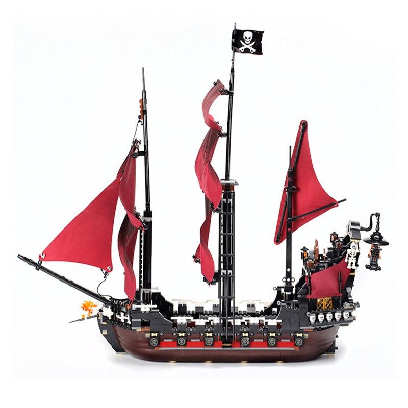 16009 karibik Königin revenge Pirates 16006 Die Schwarz Perle 16018 Geist Pirate Spielzeug Bausteine 4195 Junge Geschenk-in Sperren aus Spielzeug und Hobbys bei  Gruppe 2