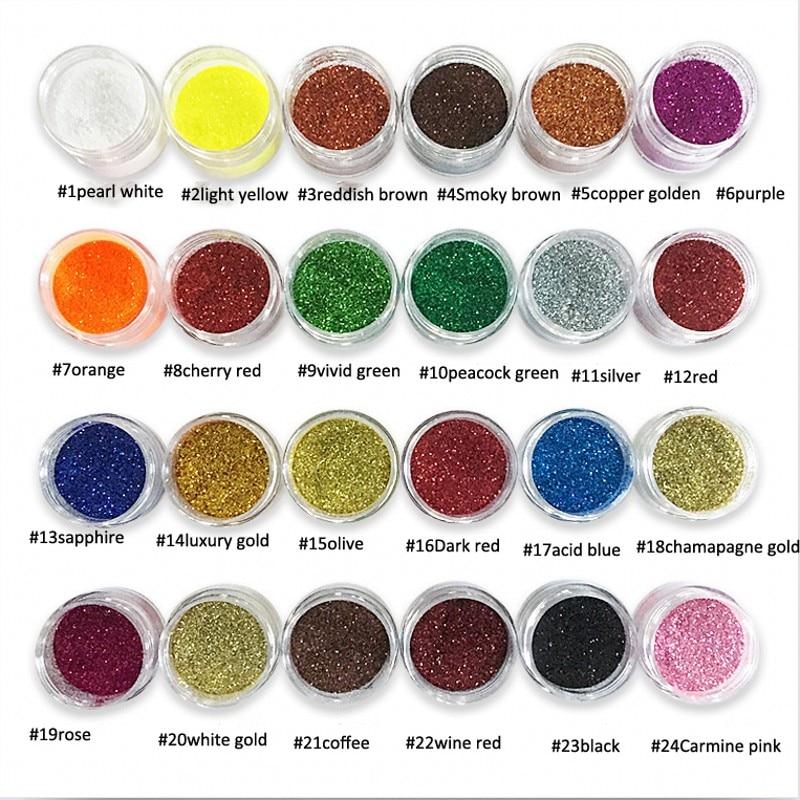 1/128 Ehrlich 1 Box 10 Ml Mix Uv Gel Glitter Staub Pulver 24 Farben Nail Art Glitter 3d Nagel Kunst Dekorationen Für Nägel Salon Schönheit 0,2 Mm Nachfrage üBer Dem Angebot