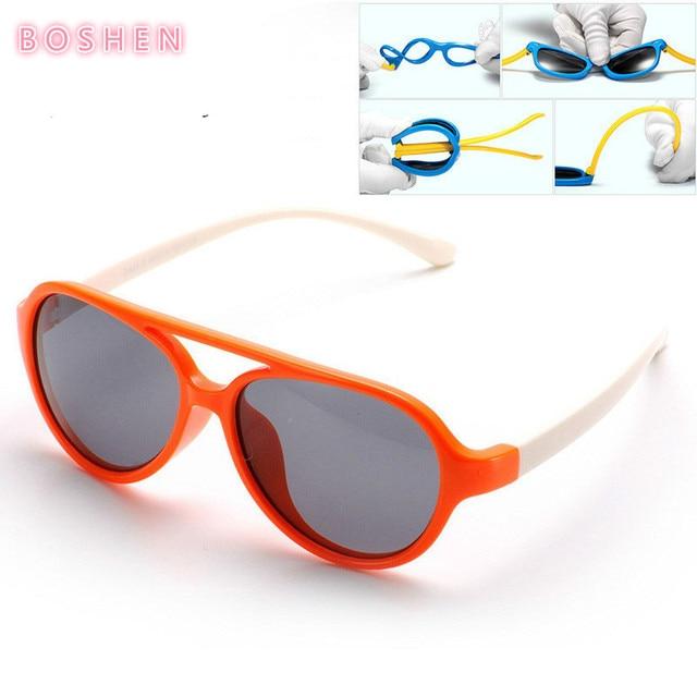 Silikon Polarisierte Kinder Sonnenbrille Runde Sonnenbrille Anti - Uv Sonnenbrille , schwarz