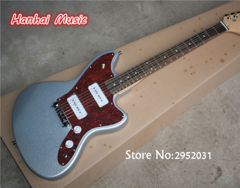 Guitar Pickup Upside Down : free shipping electric guitar with silvery color 2 p90 pickups red pickguard upside down bridge ~ Hamham.info Haus und Dekorationen