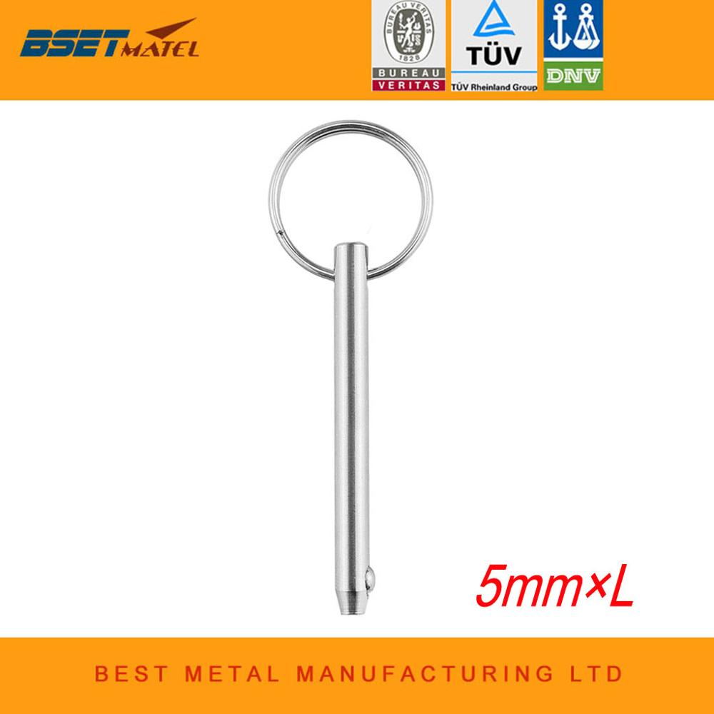 5mm BSET MATEL Marine Grade 316 Stainless Steel Quick Release Ball Pin For Boat Bimini Top Deck Hinge Marine Hardware Boat