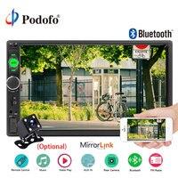 Podofo autoradio 2 Din Car Radio Bluetooth 2din Multimedia Player 7 car stereo Player Mirror Link Audio Backup Camera Monitor