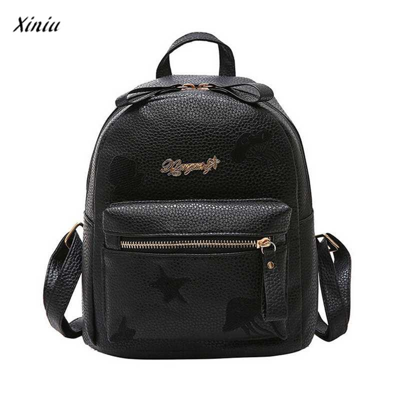 2018 Fashion Pink Mini Backpack School Bag Children Pu Leather Women