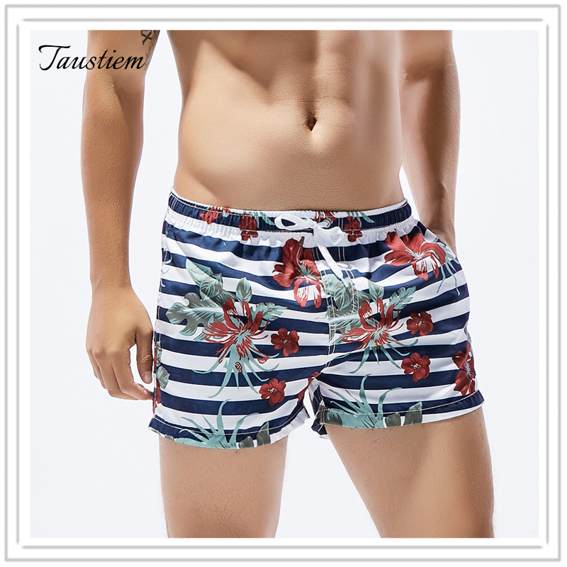 Hongel Fashion Underwear Taustiem Brand Men Swimsuits Swimwear Board Beach Shorts Boxer Trunks Sea Casual Short Bottoms Quick Drying Gay Pockets Shorts
