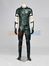 (SUP010)Green Arrow Superhero Costume Full Set Cosplay Zentai Superhero Suit Halloween Party Costume