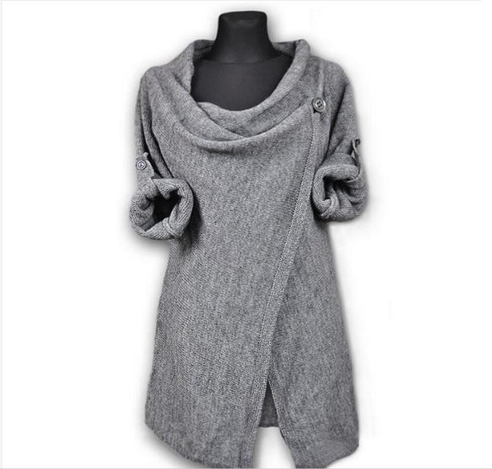 Women's Sweater Knitwear Women's Irregular Spring And Autumn Sweater Women's Uplift Autumn Loose Knitted Cardigan    3645