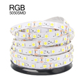 5050 Fita De LED Strip Light Striscia Led Stripe Flexible Neon Light Ruban RGB LED Tape Ribbon 5m/lot Not Waterproof DC12V