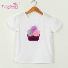 New 2017 Summer Girls Dress Clothing Sets Fashion Cotton Short Sleeve T-shirt+Tulle Skirts Children Kids Girl Clothes 2pcs Set