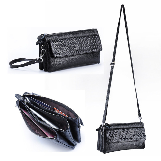 Women S Pu Leather Crossbody Bag Purse Wristlet Wallet Organizer Clutch Handbag With Phone Pocket For Iphone