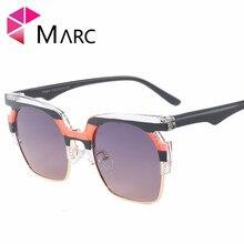 MARC NEW WOMEN Brand Eyewear designer sunglasses Oculos Gafas de Sol Men fashion White Plastic currency gafas Mirror Trendy sun222 2015 oculos gafas