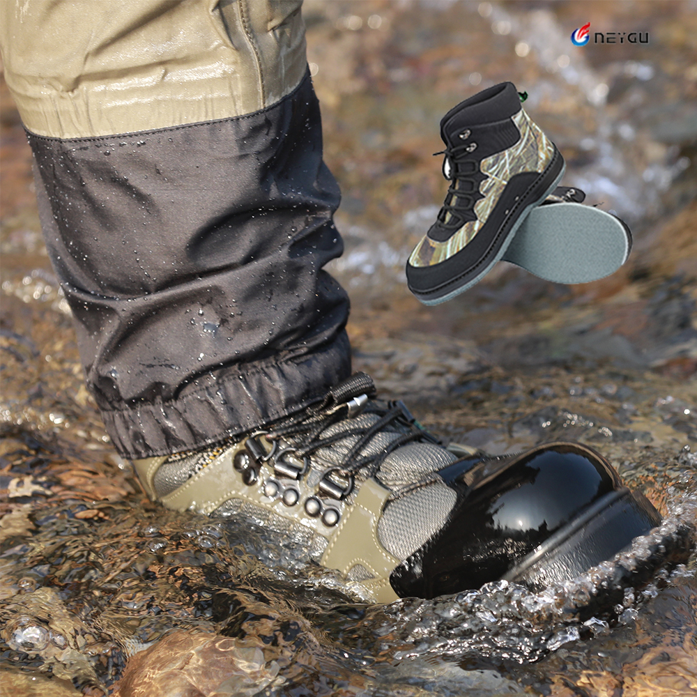 Breathable fishing wading shoes wader shoes felt sole wader boots quick drying fishing boots hunting shoes