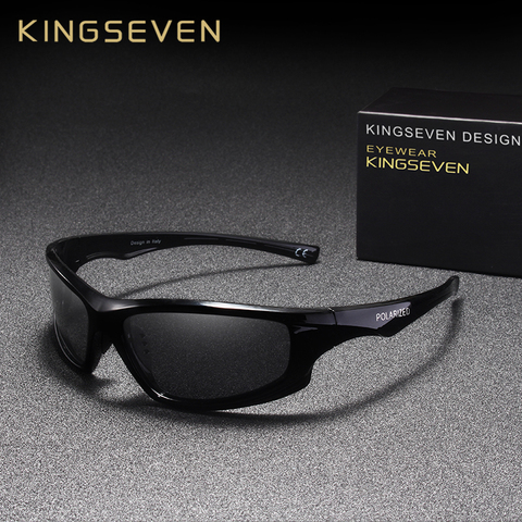KINGSEVEN DESIGN Sunglasses Men Driving Male Polarized Sunglasses Vintage Frame Eyewear Oculos Gafas UV400 Goggle Pakistan