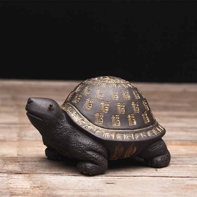 Creative purple clay tea Pet Tortoise yixing zisha teapot lid holder for teatray teaboard tearoom Decoration Handcrafts