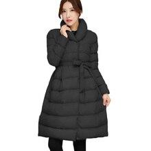Парки 2016 Новый Mujer Зима Ppadded Девушки Длинный Участок Беременных Женщин Плюс Размер Толстый Хлопок Линии Пальто Куртка Студенты LH424
