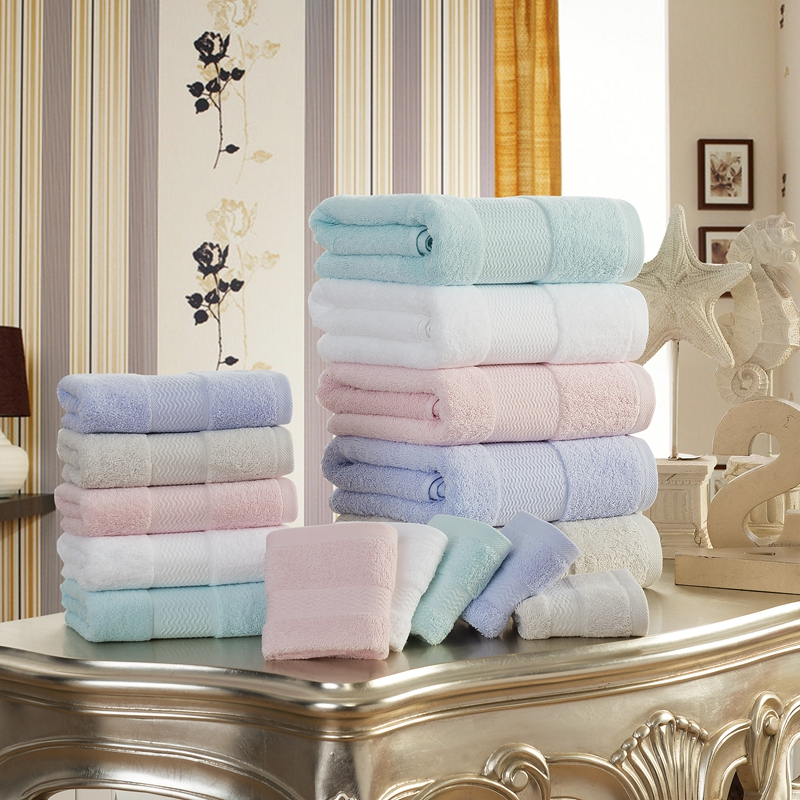 Bath Towels Lots: 2pcs/Lot Towel Set 100% Egyptian Cotton TJ 5049-in Bath