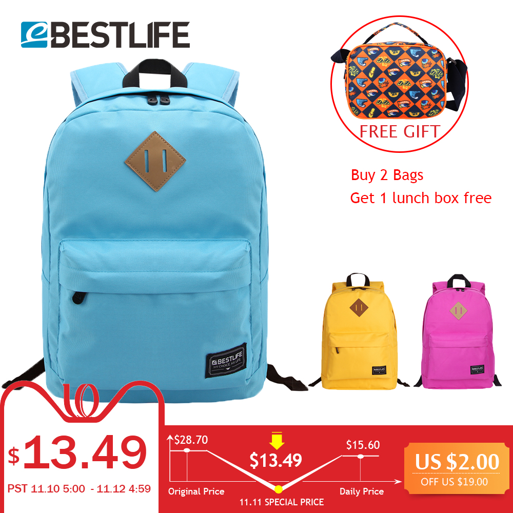 BESTLIFE School Bags/Schoolbag For Teenage Girls Boys Fashion Canvas Travel Backpack Laptops Black Yellow School Student Mochila 16 inch anime teenage mutant ninja turtles nylon backpack cartoon school bag student bags double shoulder boy girls schoolbag