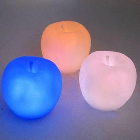 10pcs/lot Apple Shape Colors Changing Cute Lamp Colorful LED Lamp Decoration Night Light Free shipping