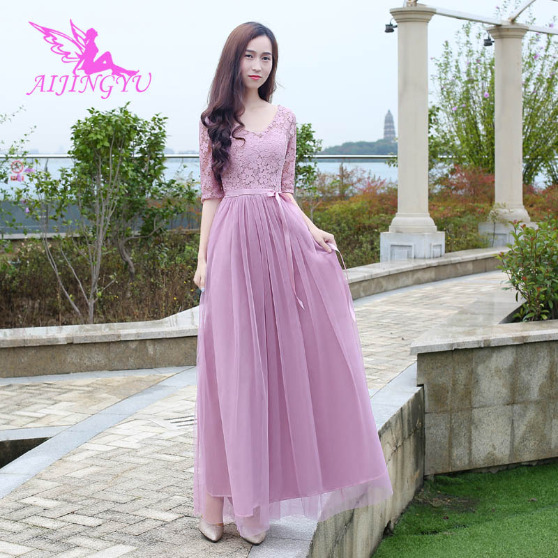 AIJINGYU 2018 New Elegant Dress Women For Wedding Party Bridesmaid Dresses BN242