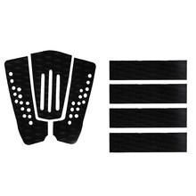 7 Pieces Non-slip Black EVA Surfboard Surf Traction Pad Deck Grips Tail Pads Kiteboard Skimboard Shortboard Surfing Accessories(China)
