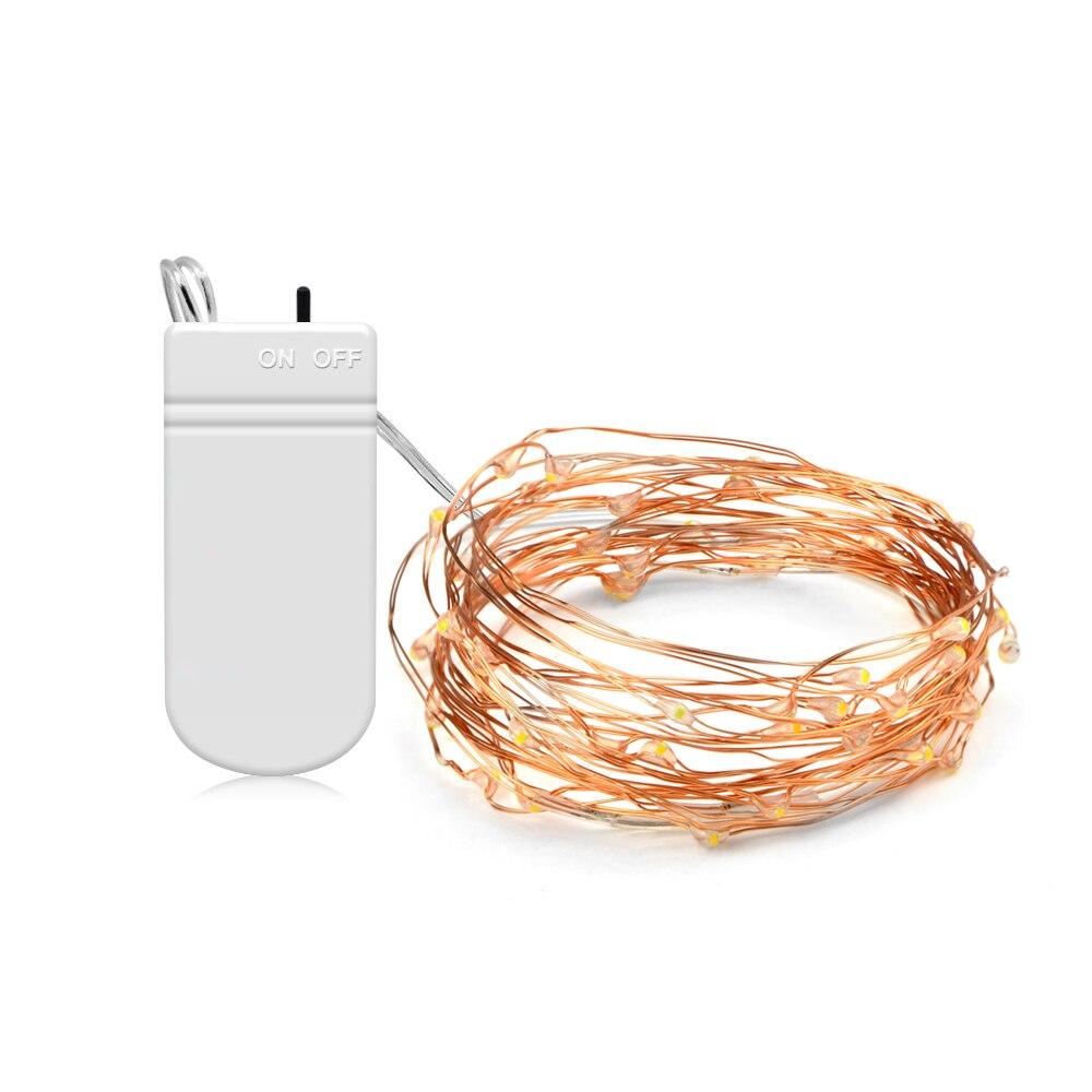 5 м 2 м LED Медь провод Фея Строка Огни 50leds 20 светодиодов, не/выключения для открытый сад Рождество украшения