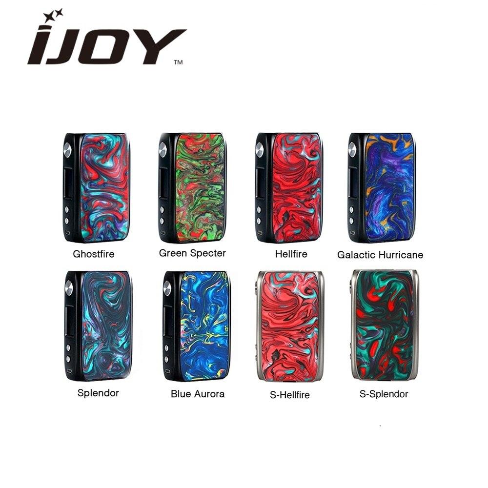 Original IJoy Shogun Univ 180 W boîte Mod alimenté par double batterie 18650 Vape Mod vaporisateur e cig Mod boîte Vs glisser 2/Luxe Mod