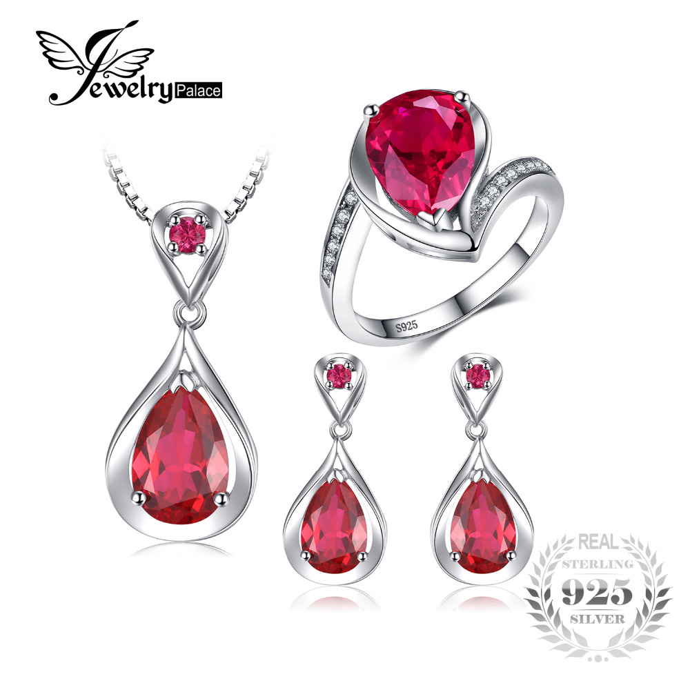 все цены на JewelryPalace Heart Love Jewelry Set 925 Sterling Silver Ring Pendant Earring Mother's Gift - A romantic expression of love