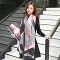 2016 Nova Top Quality Moda Geometria Mulheres Grossas Cashmere Xaile do Envoltório do Lenço Pashmina Inverno Quente Xale Poncho Camisola de Grandes Dimensões