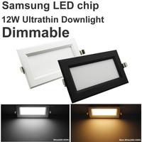 Yeni Ultrathin Meydanı Led Panel Kısılabilir 12 W 110 V 220 V Led Downlight Tavan Led Lamba Samsung Çip Led Spot Izgarası Gömme işık
