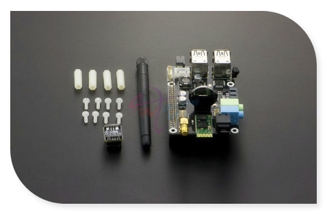 SupTronics X300 Expansion Shield Board, support Microphone stereo audio WiFi Bluetooth for Raspberry Pi Model B+ / Pi 2 / Pi 3