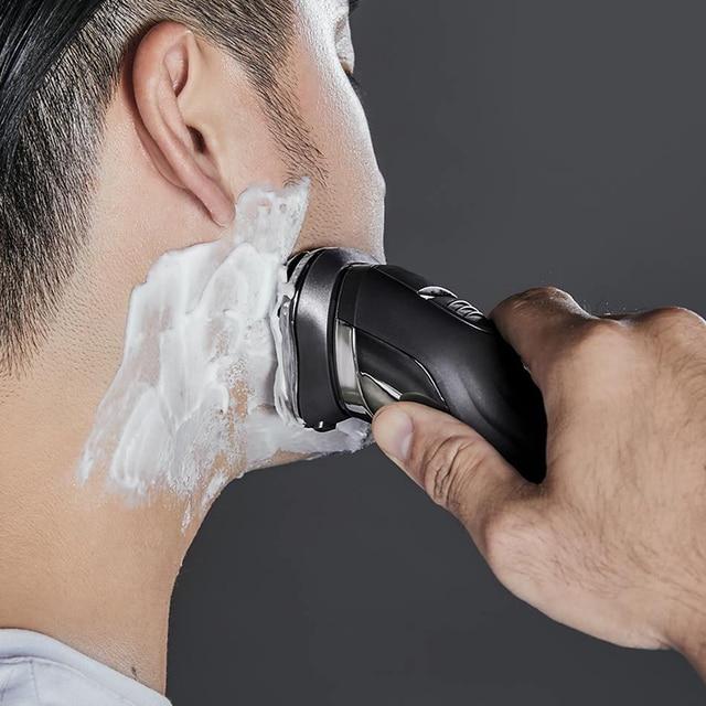 XIAOMI Youpin hommes lavable USB Rechargeable rasoir électrique sans fil contrôle intelligent rasoir IPX7 étanche rasage barbe Machine