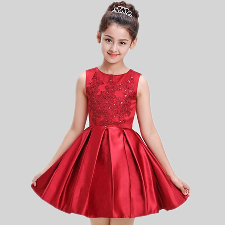 Luxury Red wine Princess Flower Girl Dress for Weddings Events Summer 2019 New Birthday Evening Prom Party Dresses Kids ClothesLuxury Red wine Princess Flower Girl Dress for Weddings Events Summer 2019 New Birthday Evening Prom Party Dresses Kids Clothes