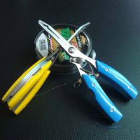 Multifunction Carbon Steel Fishing Pliers Tools Split Ring Line Cutters Camping Boating Rope Tackle Bait Remove