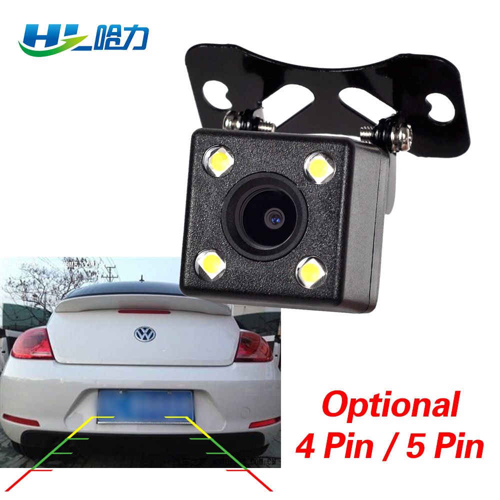 HL CDD Rear View Camara Lens Reverse Camera 2.5mm Jack With 6 Miters Cable Night Vision 4 Led Lamps for Car Dvr Mirror Recorder title=